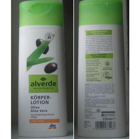 alverde k rperlotion olive aloe vera f r jede haut. Black Bedroom Furniture Sets. Home Design Ideas