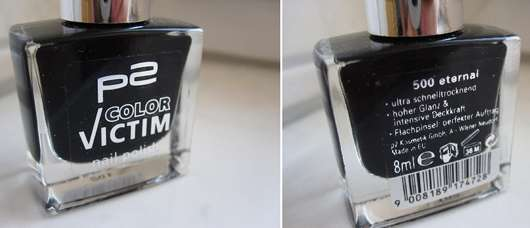 test nagellack p2 color victim nail polish farbe 500 eternal testbericht von ladybeetle. Black Bedroom Furniture Sets. Home Design Ideas