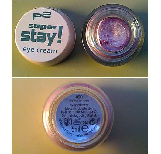 test eyeshadow p2 super stay eye cream farbe 050 delicate rose testbericht von mysterioes. Black Bedroom Furniture Sets. Home Design Ideas