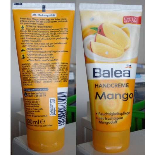 test handpflege balea handcreme mango limited edition testbericht von rea. Black Bedroom Furniture Sets. Home Design Ideas