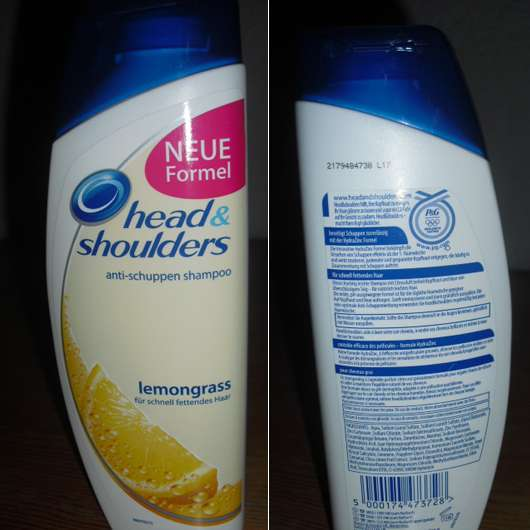test shampoo head shoulders anti schuppen shampoo lemongrass f r schnell fettendes haar. Black Bedroom Furniture Sets. Home Design Ideas