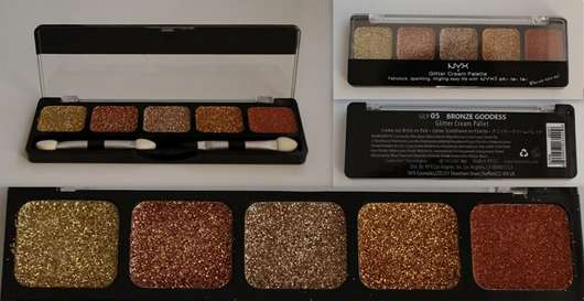 test eyeshadow nyx glitter cream palette farbe bronze goddess testbericht von claire tastic. Black Bedroom Furniture Sets. Home Design Ideas