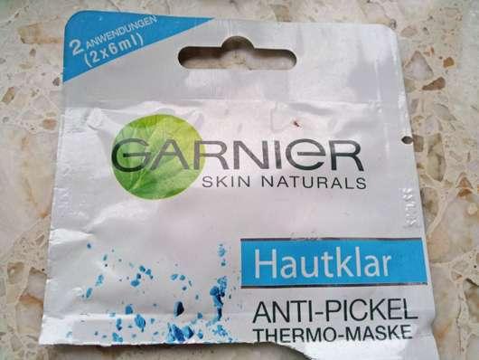 test maske garnier skin naturals hautklar anti pickel thermo maske testbericht von floower. Black Bedroom Furniture Sets. Home Design Ideas
