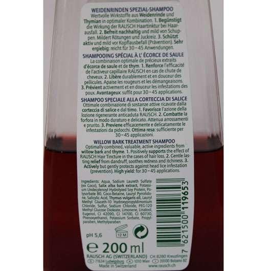 test shampoo rausch weidenrinden spezial shampoo. Black Bedroom Furniture Sets. Home Design Ideas